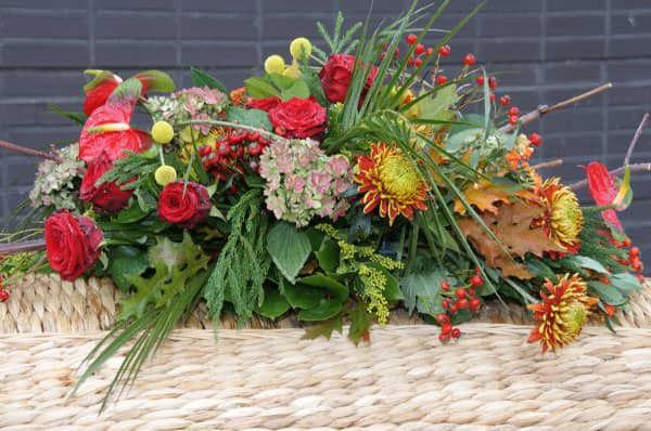 Rouwwerk - Bloemen tijdens de uitvaart