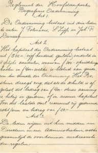 Reglement van de Hoofddorpse Begrafenis Onderneming - pag. 2