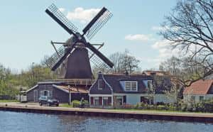 Krijtmolen in Amsterdam Noord
