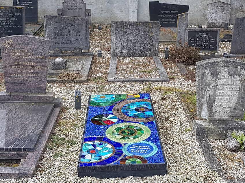 Gedenken met mozaiek