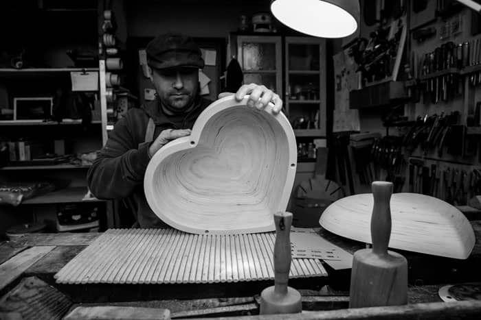 Arnaldo Lopez met zijn houten hart