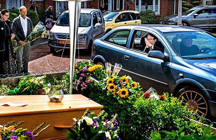 Afscheid in het kommetje van Blauwe Zand - Foto: Klaas Jan van der Weij