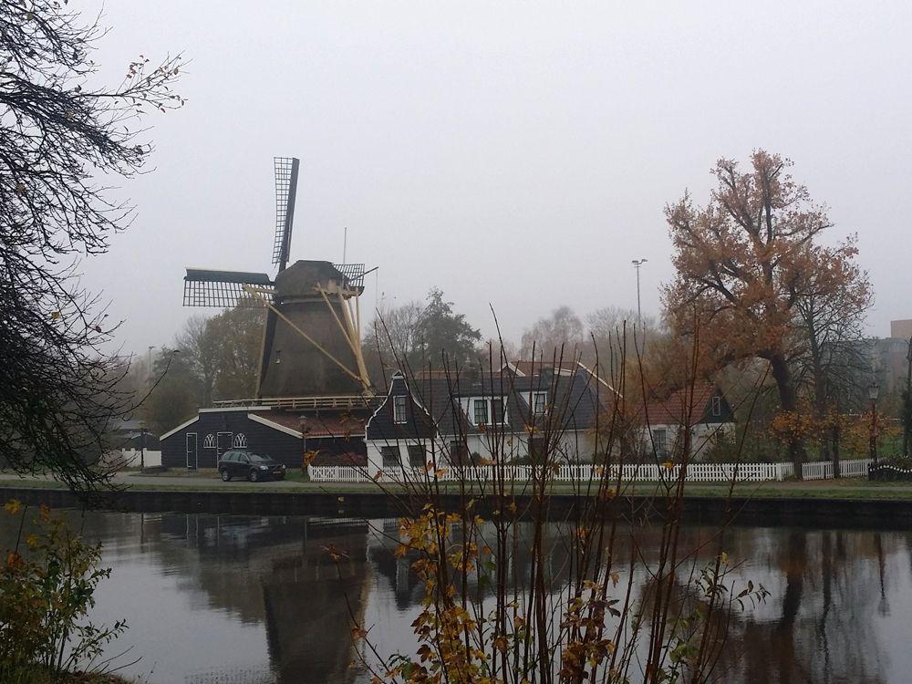 De krijtmolen nabij begraafpaats crematorium De Nieuwe Noorder